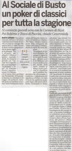 -½Al Sociale di Busto un poker di classici per tutta la stagione-+ in -½La Provincia di Varese-+, anno 7, n. 322 (marted+¼ 22 novembre 2011), p. 42.